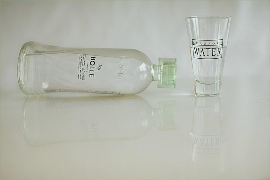 Waterfles Produktfotografie