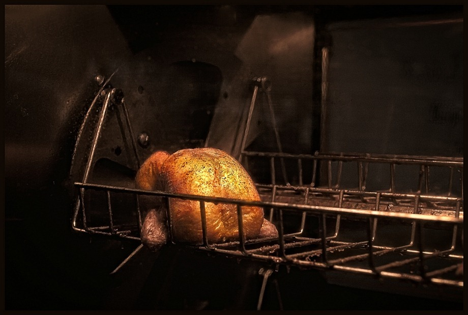 Kippengrill  kip aan het spit  pollo allo spido