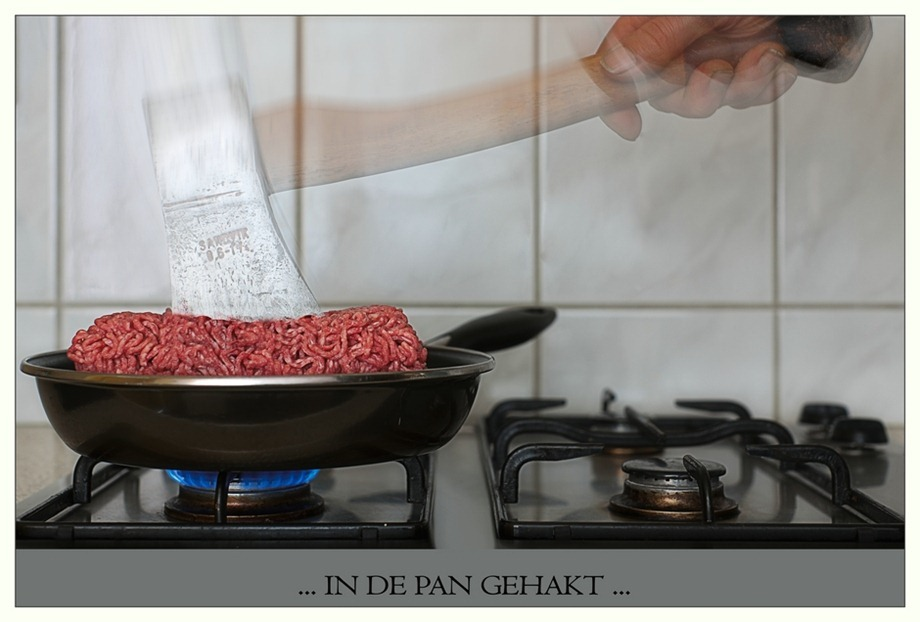 Gehakt bijl   In de pan gehakt