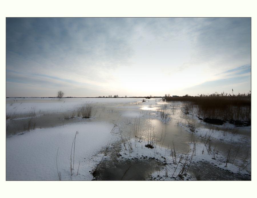 Zwartsluis,  Hasselterdijk, Zwartewater, Winter 02