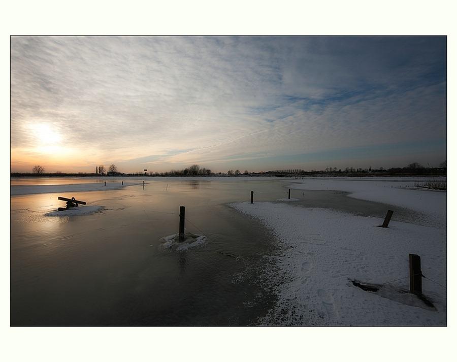 Zwartsluis, Hasselterdijk, Zwartewater, Winter, landschapsfotografie, Groothoek 02