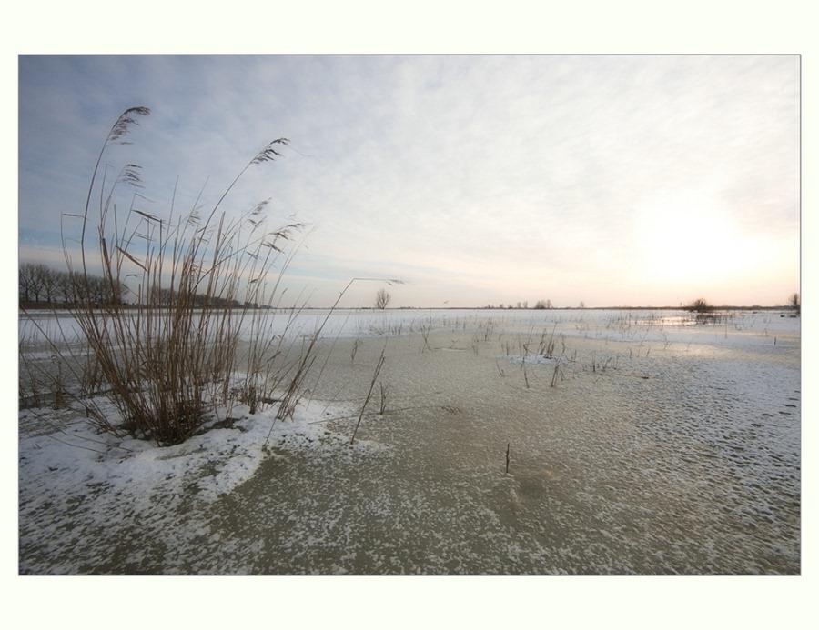 Zwartsluis, Hasselterdijk, zwartewater, winter 03