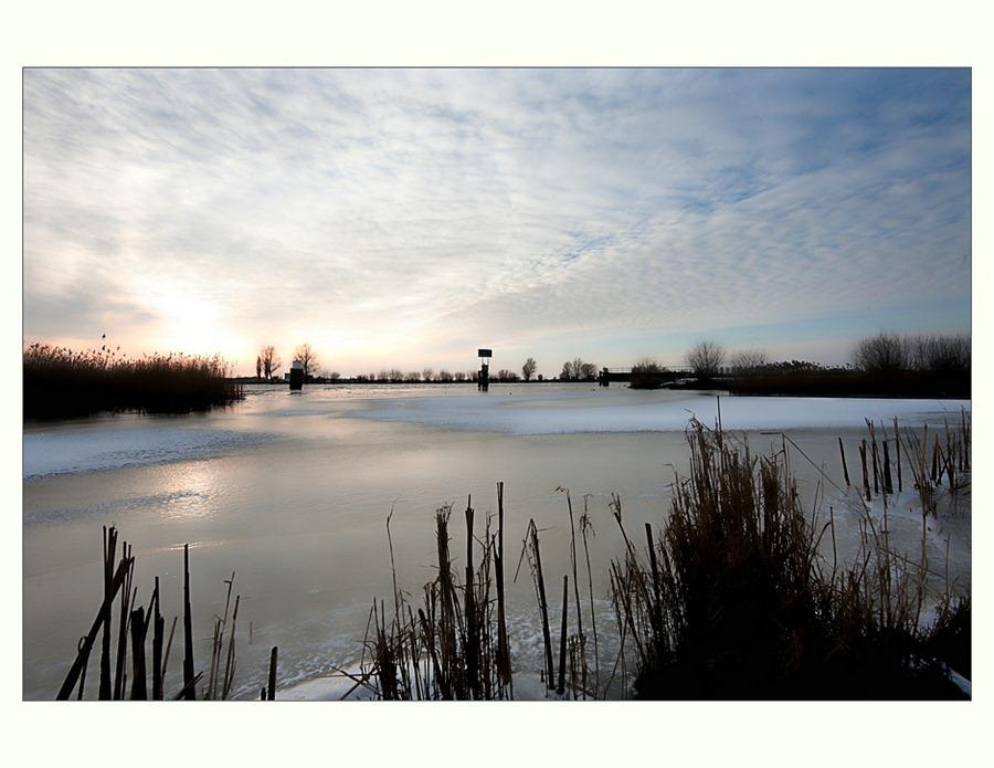 Zwartsluis, Hasselterdijk, zwartewater, winter 05