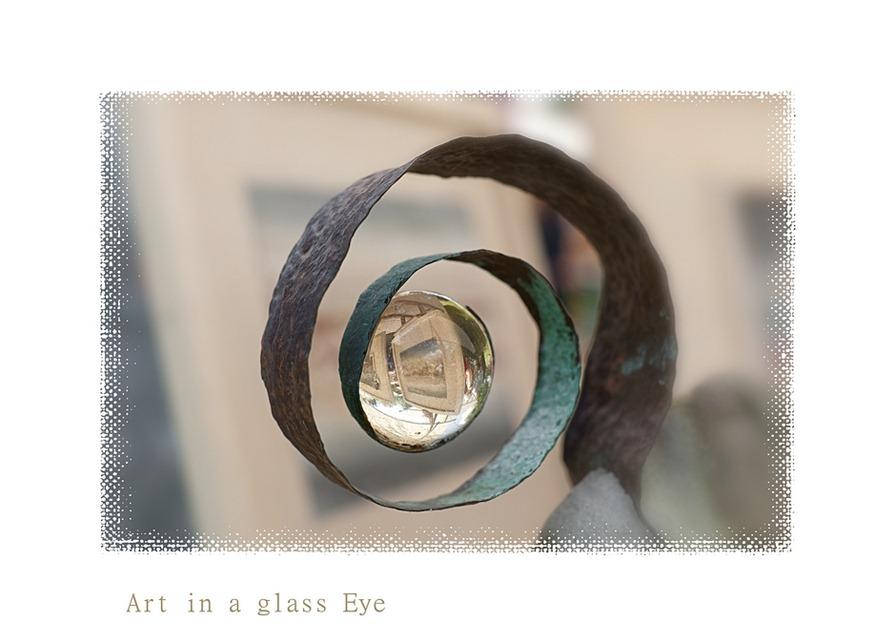 Glazen bol Reflectie