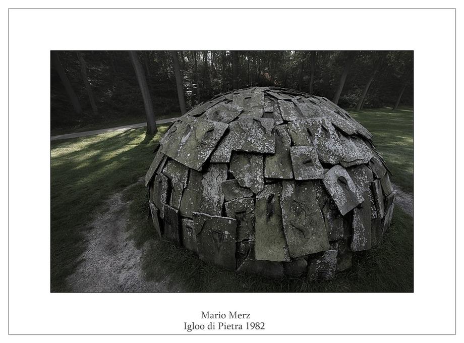 Kröller-Müller Beeldentuin Mario Merz Igloo di Pietra