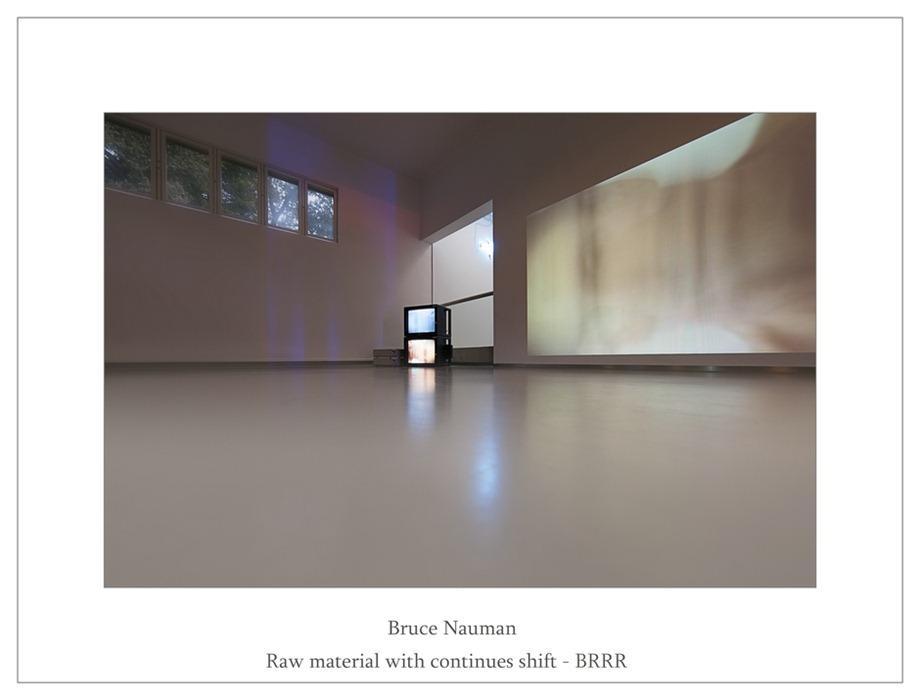 Kröller-Müller Bruce Nauman Raw material with continues shift BRRR