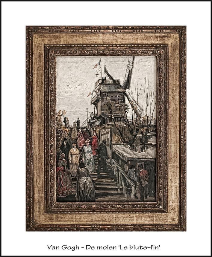 Van Gogh De molen 'Le blute-fin'