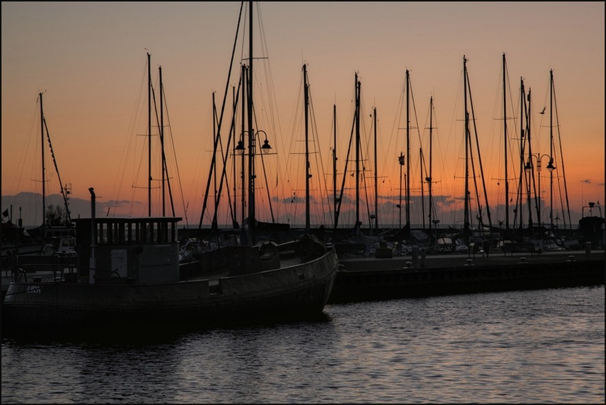 Urk Haven Silhouet