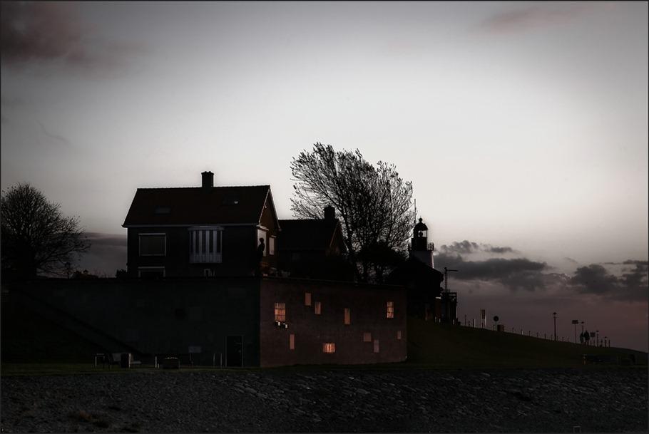 Urk Zonsondergang Vuurtoren