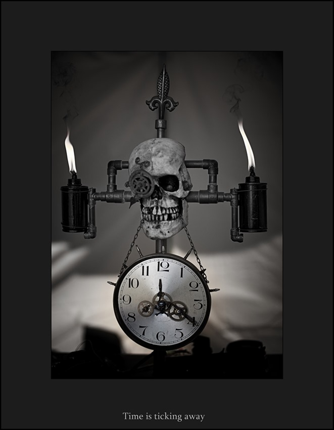 Steampunk Clock Skeleton