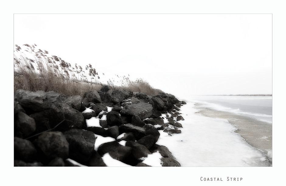 IJsselmeer Winter Sneeuw