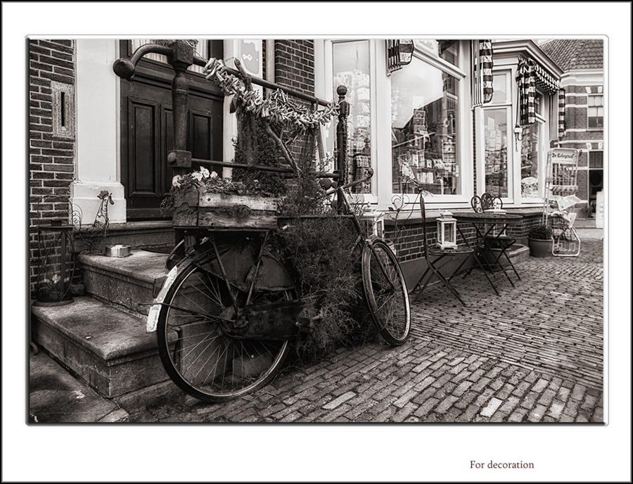 Oude fiets Decoratief