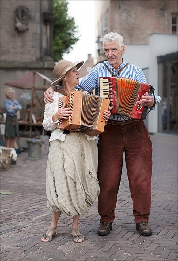 Deventer Brocante Markt Muzikanten