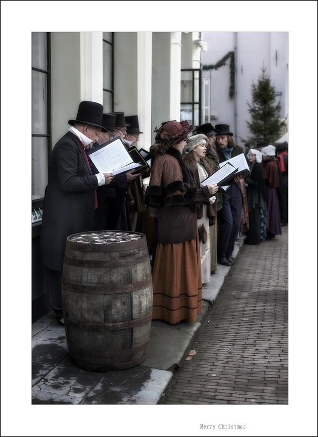 Charles Dickens Kerstsfeer Kerstzang foto