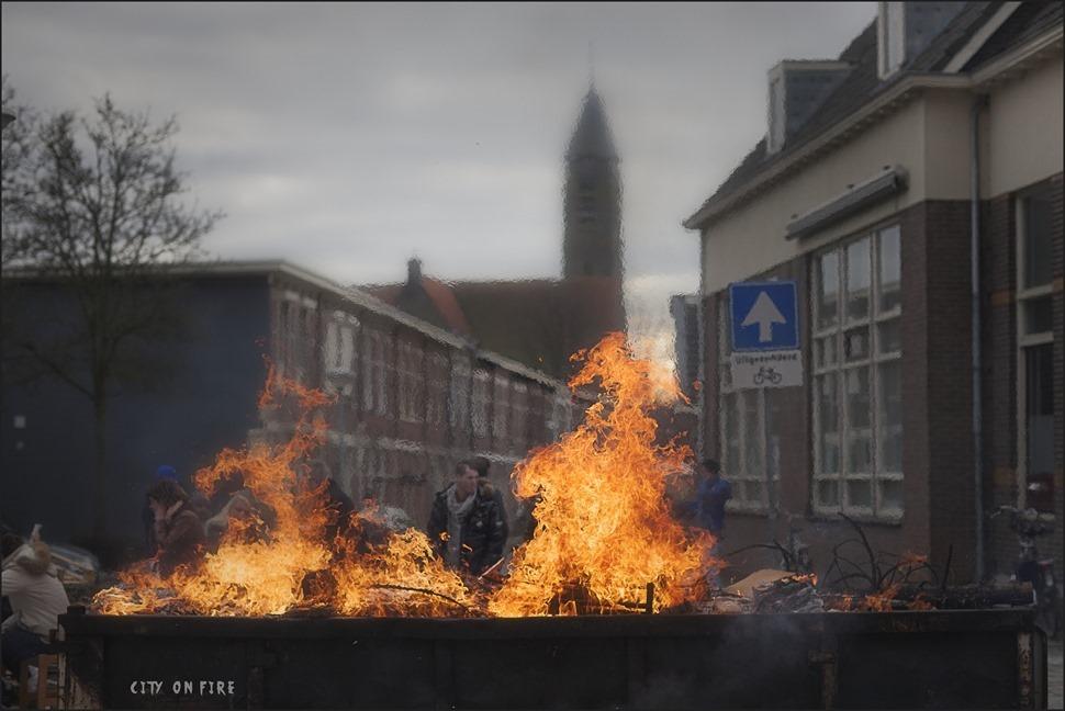 Carbid Schieten Kampen Foto Melkbus Schieten Kampen