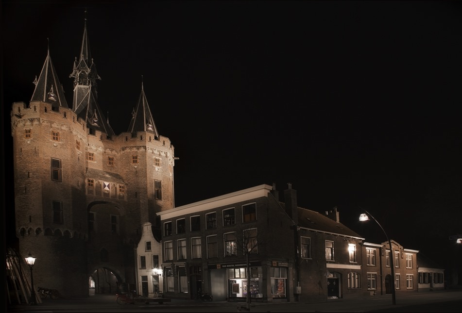 Nachtfotografie Foto Zwolle Sassenpoort