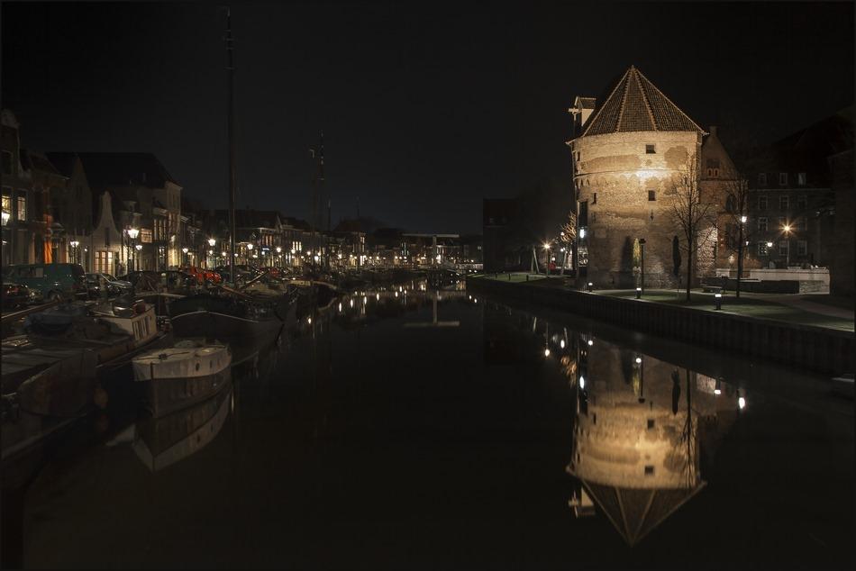 Nachtfotografie Foto Zwolle Stadsgracht