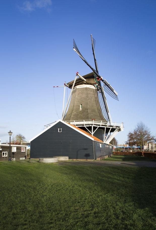Oliemolen de Passiebloem Foto Molen Zwolle