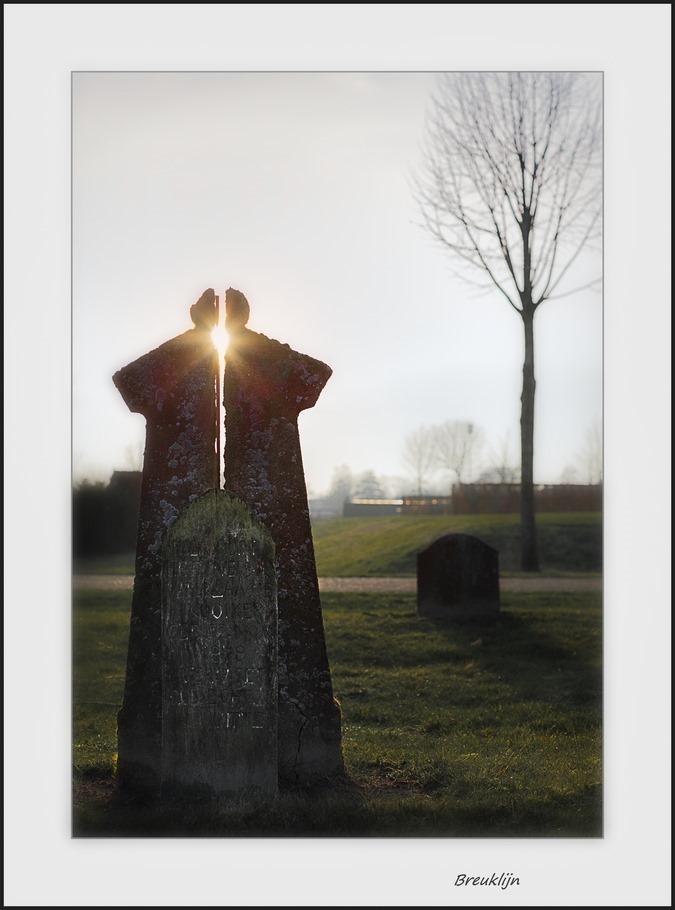 Staphorst Begraafplaats Foto Oude Grafsteen