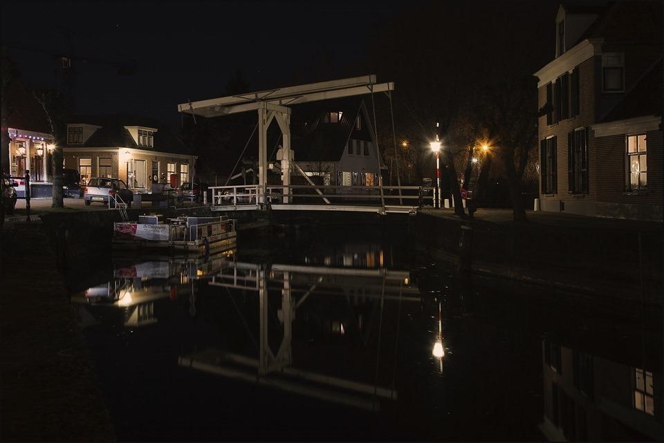 Nachtfotografie Foto Hasselt Gracht