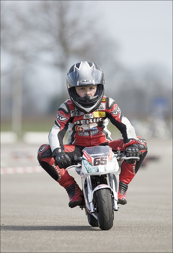 Vuurdoop Foto Minibike Training