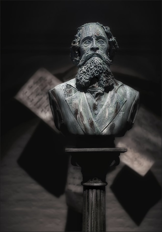 Borstbeeld Foto Charles Dickens