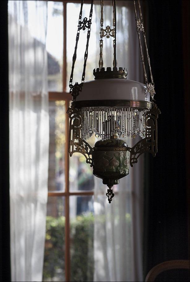 Kralenlamp Foto Petroleumlamp