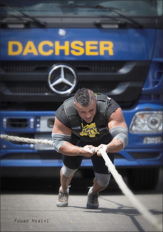 Sterkste man van Nederland Foto Fouad Hsaini