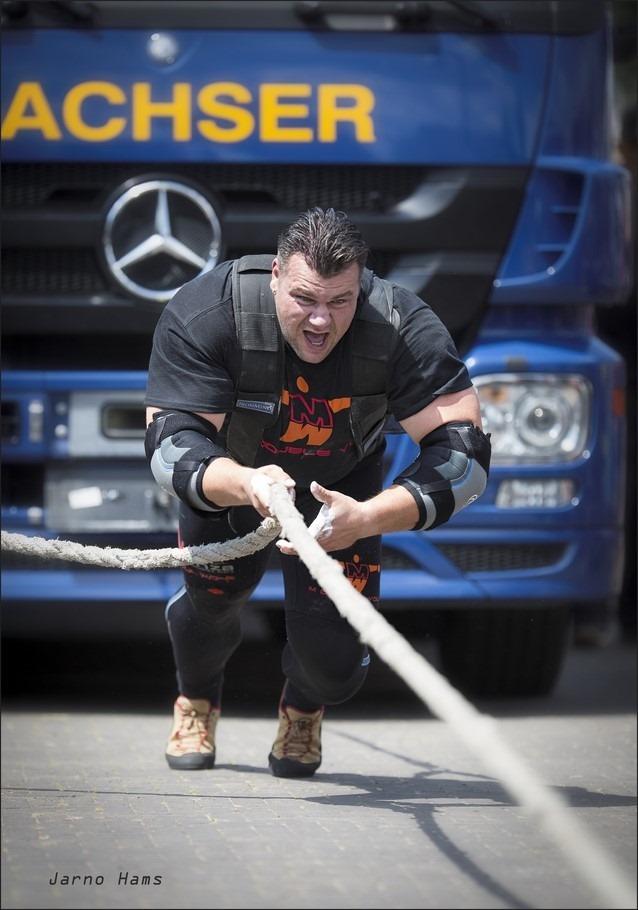 Sterkste man van Nederland Foto Jarno Hams