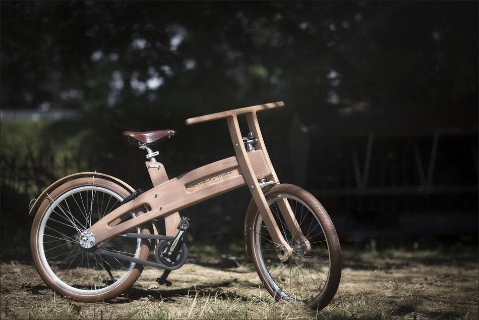 Bough Bike Foto Houten Fiets Foto Jan Gunneweg