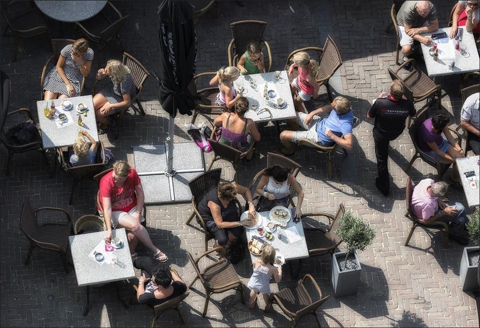 Donderdag Meppeldag Foto Meppel van Bovenaf Foto Uitzicht op Meppel