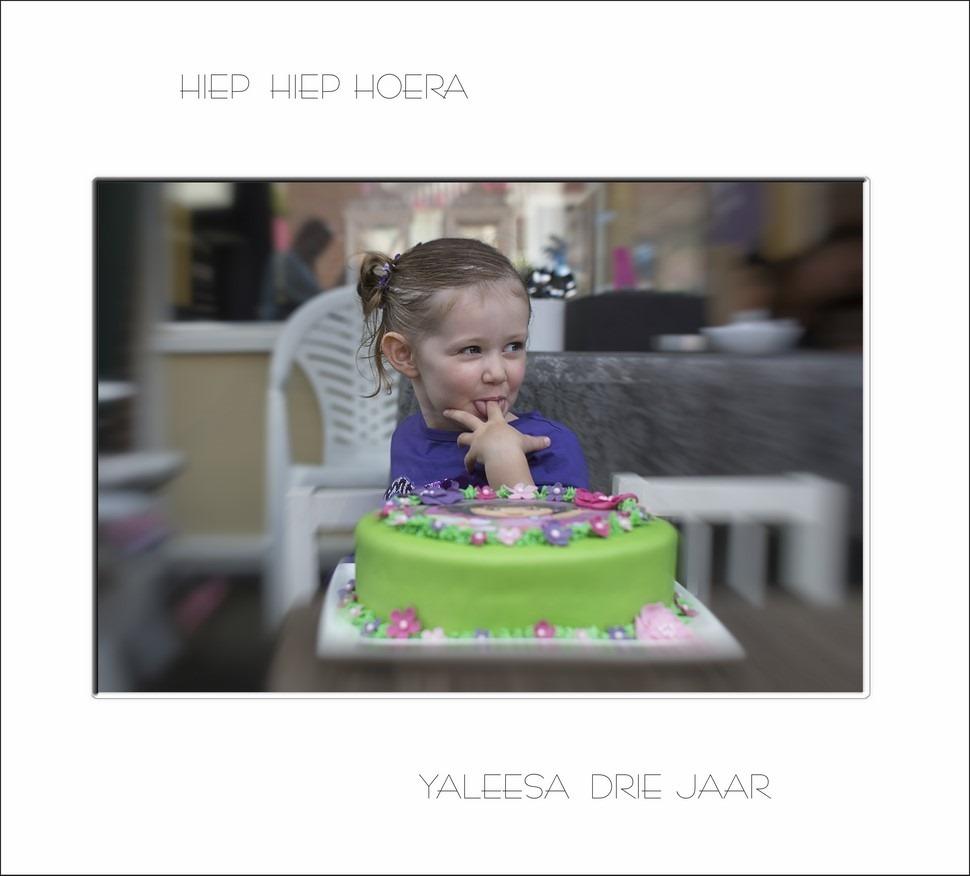 Verjaardag 3 jaar Foto Yaleesa Jarig