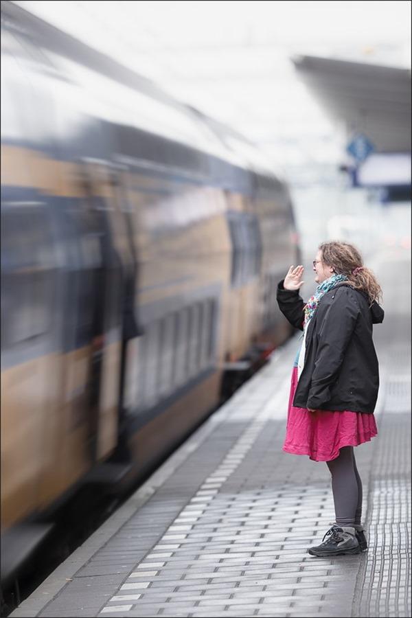 Station Zwolle Foto Station Foto Perron Foto Afscheid Foto Uitzwaaien Foto Tot Ziens