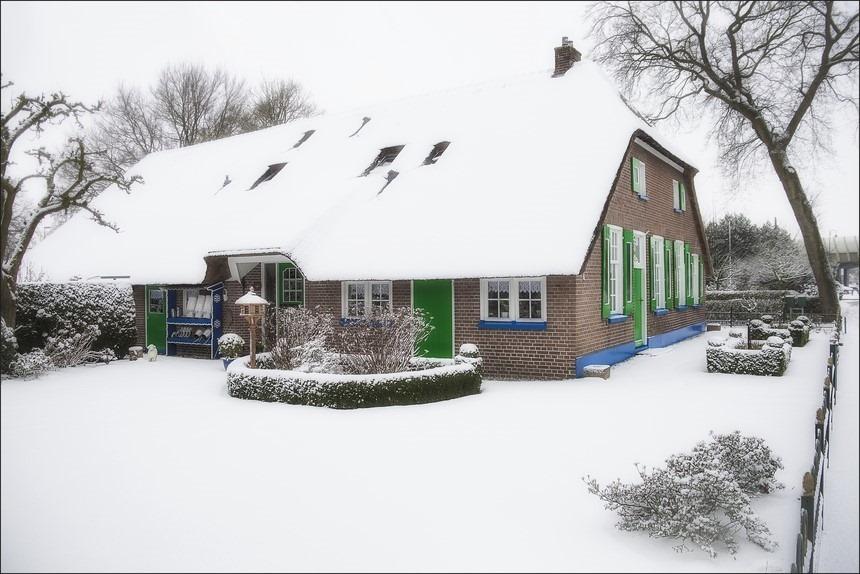 Staphorst Foto Staphorster Boerderij Foto Foto Staphorster Boerderijen Foto Winter