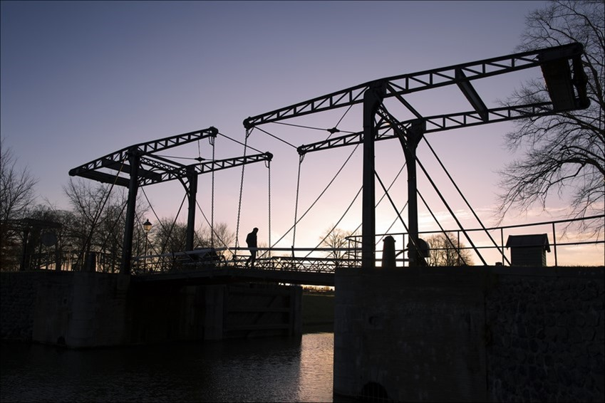 Tegenlicht Fotografie Foto Historische Brug Foto Dubbele ophaalbrug Foto Ophaalbrug Foto Tegenlichtfoto
