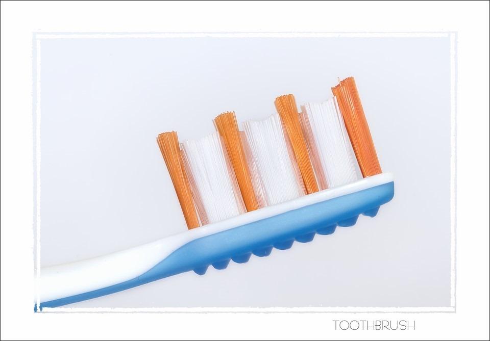 Mechanische Tandenborstel foto Tandenborstel Foto Mondhygiëne Foto Macro Tandenborstel
