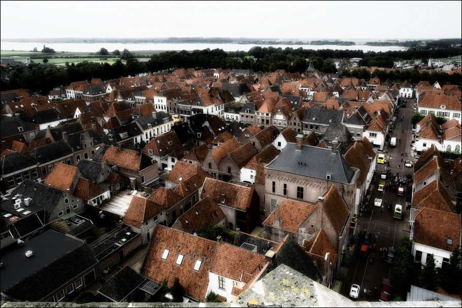 Elburg Foto Grote Kerk Elburg Foto Sint-Nicolaaskerk Elburg Torenklimmen Foto Toren Beklimmen Elburg Foto Vestingstad Elburg Foto Elburg Centrum Foto Vogelperspectief