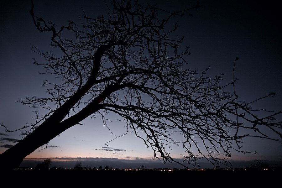 Staphorst Foto Bijna Thuis Foto Lichtjes in de avond Foto Straatverlichting