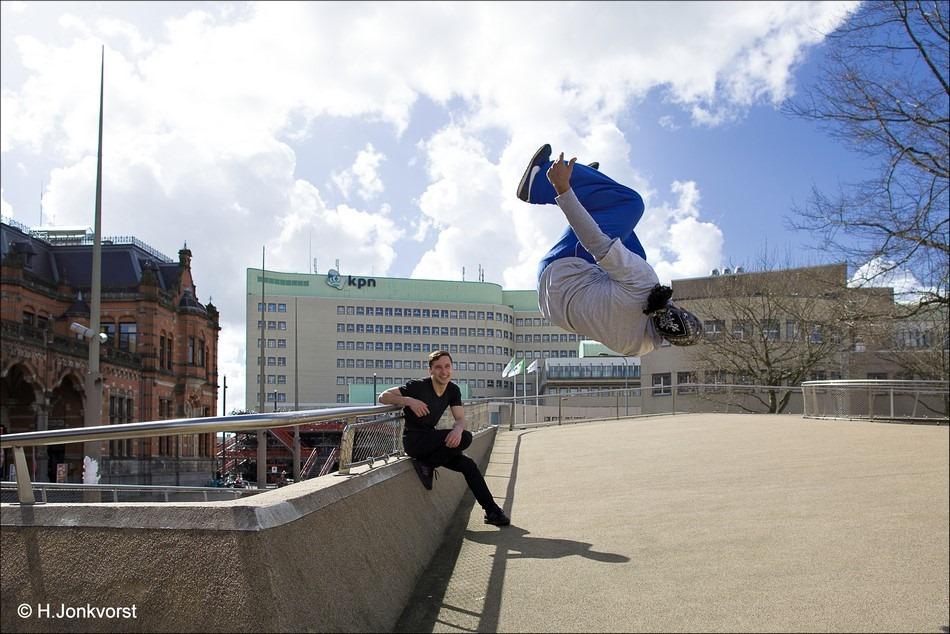 Freerunning Foto Free Running Foto Freerunner Foto Free Runner Foto Freerunning Salto Foto Urban Sport Foto Urban Sports Foto Groningen Foto Centraal Station Groningen