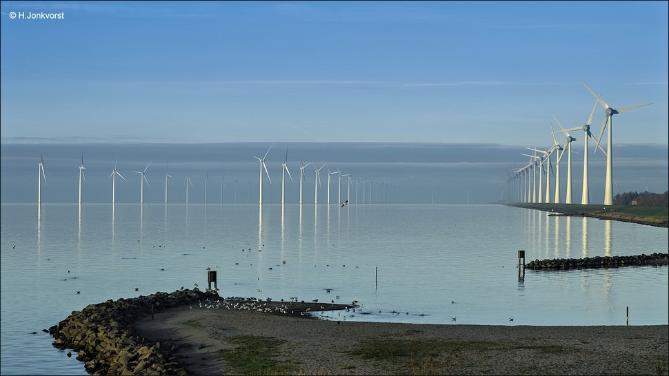 Urk Foto windpmolenpark Urk Foto windmolenpark Foto windpark Foto windturbine Foto Westermeerdijk Foto Windmolens op  het water Urk Westermeerdijk