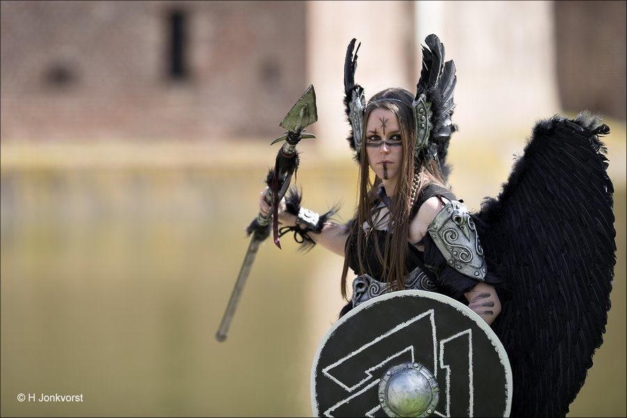 Elfia, Elfia 2017, Elfia Haarzuilens, Elfia Haarzuilens 2017, Fantasy festival, elf fantasy fair, kasteel de haar, portret, portretfotografie, oorlogsengel, angel of death
