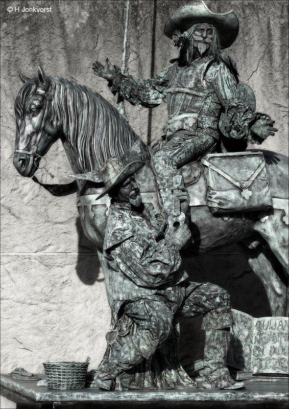 Levende Beelden Emmen, Levende Beelden Emmen 2017, Levende Beelden, Living Statue, Living Statues, Levend Standbeeld, Levende Standbeelden Emmen, Don Quichot, Ridder van de droeve figuur, Sancho Panza, Don Quichotte