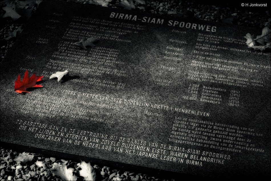 Zij kwamen niet terug, Birma Siam spoorweg, Dodenlijn, Dodenspoorlijn, Death Railway, Birmaspoorweg, Stof tot nadenken, Museum Bronbeek, Museum Bronbeek Arnhem, Oorlogsmonument Museum Bronbeek