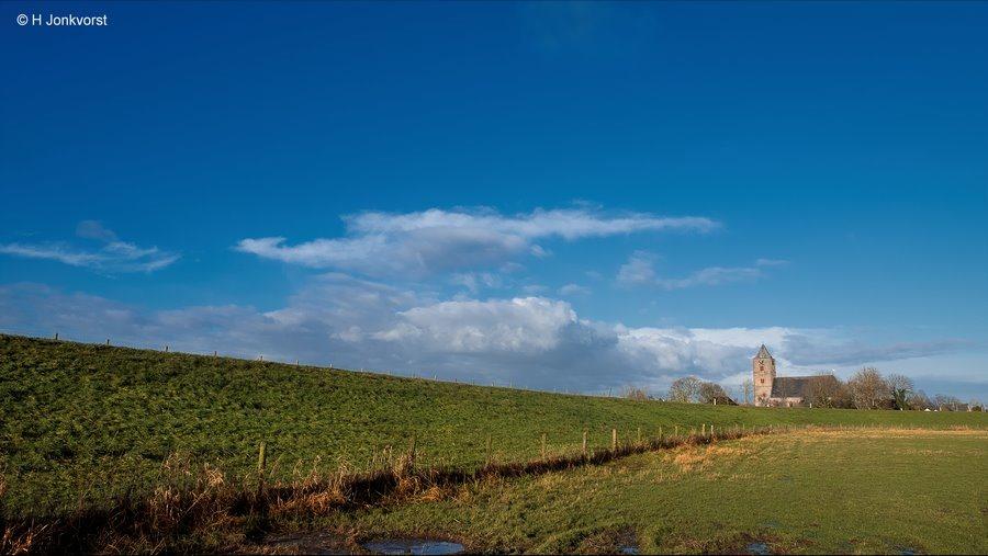 Sint-Nicolaaskerk, Sint-Nicolaaskerk Zalk, Zalkerdijk, Uiterwaarden IJssel, Kerkdijk, Lijnen en vlakken, Landschap, Landschapsfotografie
