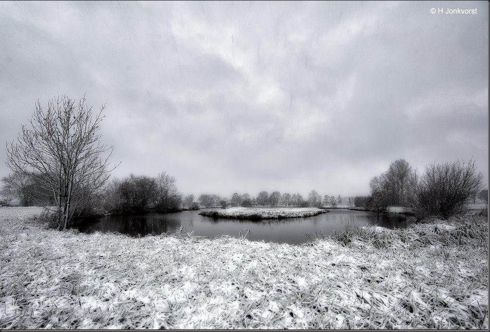 Winter aan De Reest, Winter in de kop van Overijssel, Sneeuwlandschap, Sneeuw, Staphorst, Sneeuwval, Reest, Reestdal, Kortstondige winter, Landschap, Landschapsfotografie