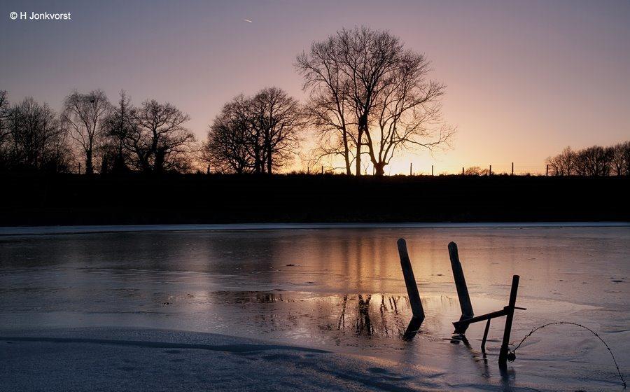 Avondsfeer, avondrood, zonsondergang, Landschap, Landschapsfotografie, bomen silhouetten, tegenlicht, Fotografie, Foto
