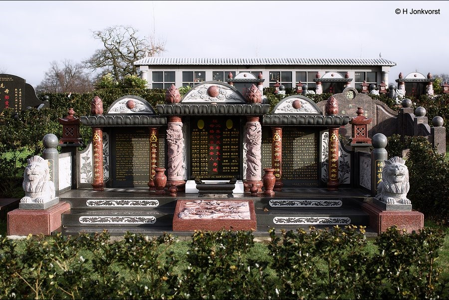 Chinese begraafplaats, Chinese begraafplaats Zwolle, Bovengronds begraven, pagode, Chinese pagode, grafheuvel, trapsgewijs begraven, Rituelen, Kranenburg Zwolle, Chinees kerkhof