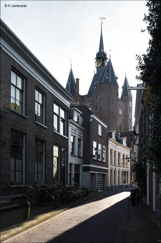 Zwolle, Torens van zwolle, Sassenpoort, Walstraat, Sassenpoort Zwolle, Walstraat Zwolle, mooiste plekjes van Zwolle, mooi Zwolle, karakteristieke voorgevels, Architectuur Zwolle, Fotografie, Foto