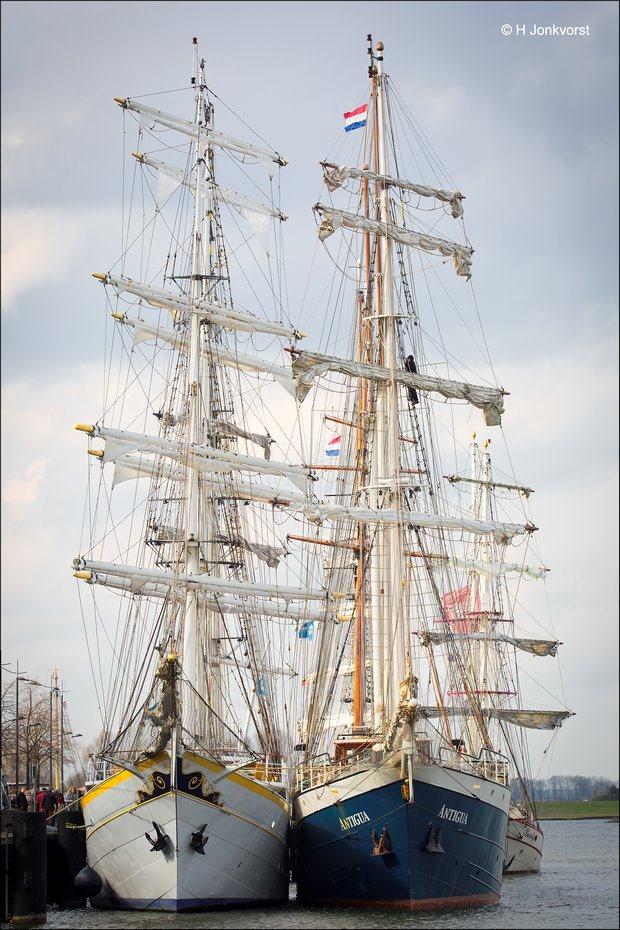 Sail Kampen 2018, Sail Kampen, Sail Kampen tall ships, Sail Kampen historische schepen, historische driemaster, Antigua, Barkentijn, authentieke driemaster, Fotografie, Foto, Photo