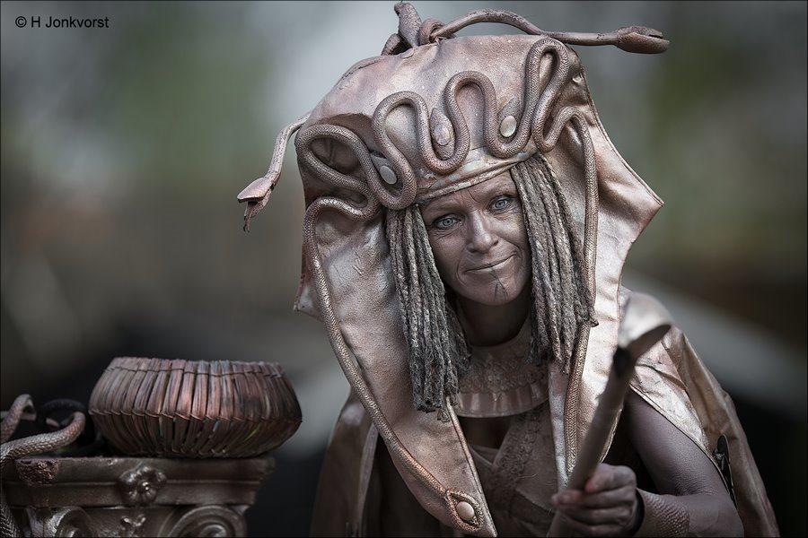 Medusa, Living Statues 2018, Living Statues Borne 2018, Living statues Borne, Levende Beelden Borne, Levende Beelden Borne 2018, Levende Beelden, Living Statues, Borne op z'n Best, slangenvrouw, Griekse mythologie